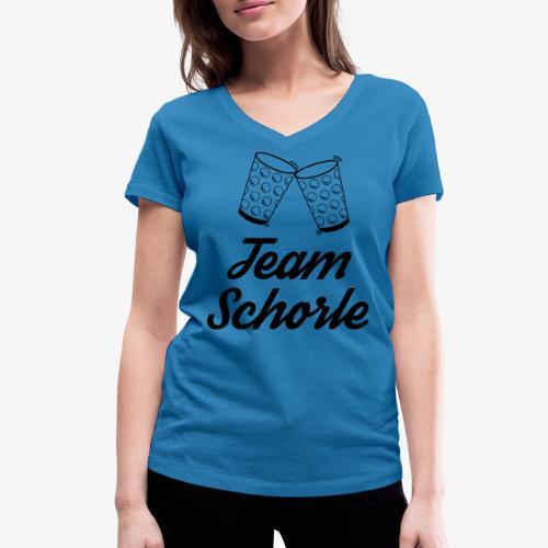 Team Schorle - Frauen Bio-T-Shirt mit V-Ausschnitt von Stanley & Stella