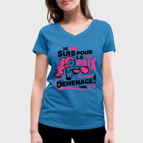 Paix des ménages - T-shirt bio col V Stanley & Stella Femme