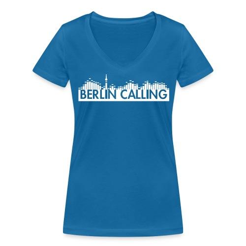 Berlin Calling - Frauen Bio-T-Shirt mit V-Ausschnitt von Stanley & Stella