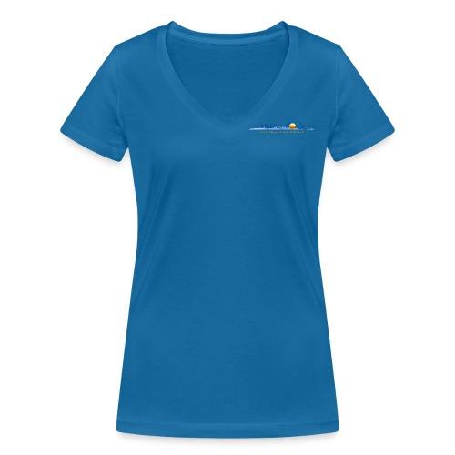 Logo klein - Frauen Bio-T-Shirt mit V-Ausschnitt von Stanley & Stella