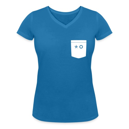 HG_Taschengesicht_Schwarz - Frauen Bio-T-Shirt mit V-Ausschnitt von Stanley & Stella
