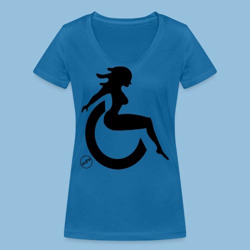 Sexywheelchairlady1 - Vrouwen bio T-shirt met V-hals van Stanley & Stella