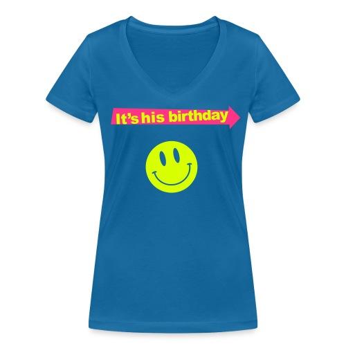 shirt-for-her-v3 - Vrouwen bio T-shirt met V-hals van Stanley & Stella