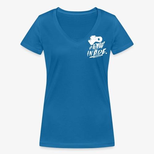RAW INSIDE wte - T-shirt ecologica da donna con scollo a V di Stanley & Stella