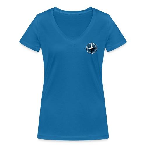 Kompass - Frauen Bio-T-Shirt mit V-Ausschnitt von Stanley & Stella