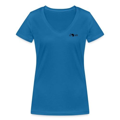 Love Africa - Frauen Bio-T-Shirt mit V-Ausschnitt von Stanley & Stella