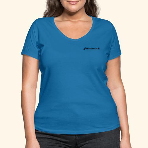 Freischnauze (R) - Frauen Bio-T-Shirt mit V-Ausschnitt von Stanley & Stella