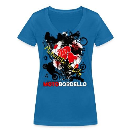 motobordello 2017 - T-shirt ecologica da donna con scollo a V di Stanley & Stella