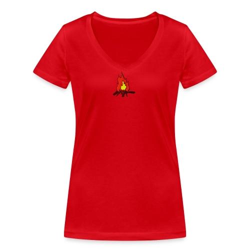 Fire color fuoco - T-shirt ecologica da donna con scollo a V di Stanley & Stella