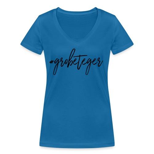 #grobeteger - Frauen Bio-T-Shirt mit V-Ausschnitt von Stanley & Stella