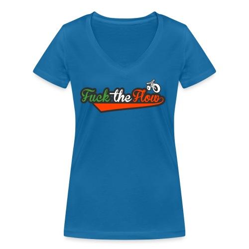 fuck the flow italy - T-shirt ecologica da donna con scollo a V di Stanley & Stella