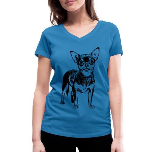 Chihuahua Hunde Design Geschenkidee - Frauen Bio-T-Shirt mit V-Ausschnitt von Stanley & Stella