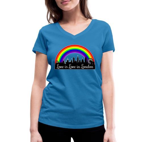 Love is Love in London - Stanley & Stellan naisten v-aukkoinen luomu-T-paita