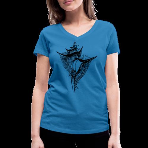 Muschel - Frauen Bio-T-Shirt mit V-Ausschnitt von Stanley & Stella