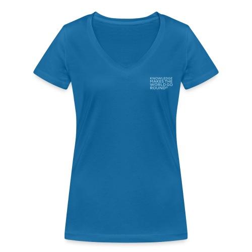 Knowledge - Frauen Bio-T-Shirt mit V-Ausschnitt von Stanley & Stella