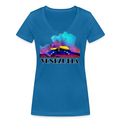 Venezuela Auyantepui colors - Camiseta ecológica mujer con cuello de pico de Stanley & Stella