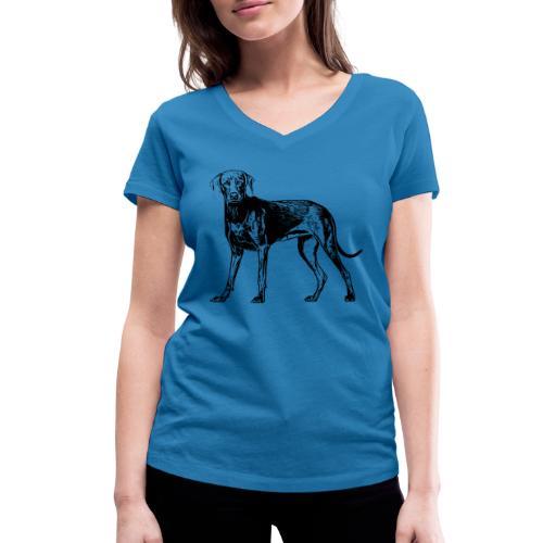 Weimaraner / Hunde Design Geschenkidee - Frauen Bio-T-Shirt mit V-Ausschnitt von Stanley & Stella