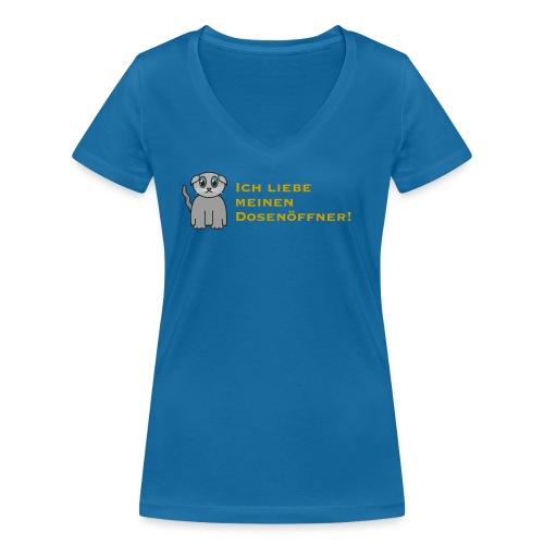 Süßes Kätzchen - Frauen Bio-T-Shirt mit V-Ausschnitt von Stanley & Stella