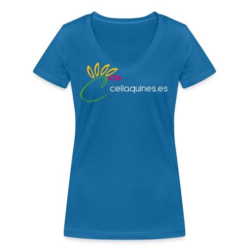 logo celiaquineshorizontal png - Camiseta ecológica mujer con cuello de pico de Stanley & Stella