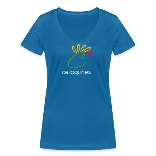 logograndeceliaquinesletragorda png - Camiseta ecológica mujer con cuello de pico de Stanley & Stella