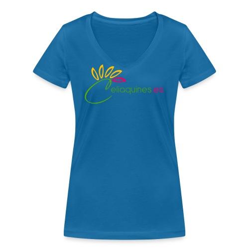 logoes png - Camiseta ecológica mujer con cuello de pico de Stanley & Stella