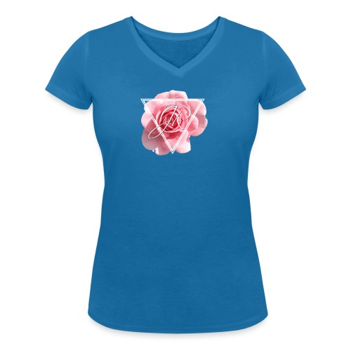 Rose Logo - Women's Organic V-Neck T-Shirt by Stanley & Stella