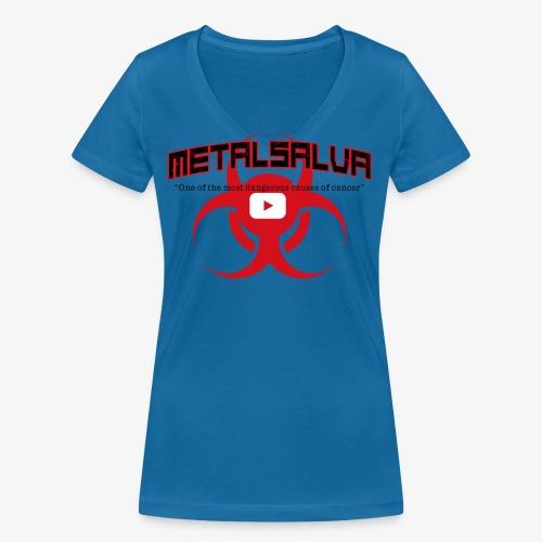METALSALVA Cancer #1 - T-shirt ecologica da donna con scollo a V di Stanley & Stella