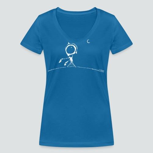 pflanze2 png - Frauen Bio-T-Shirt mit V-Ausschnitt von Stanley & Stella
