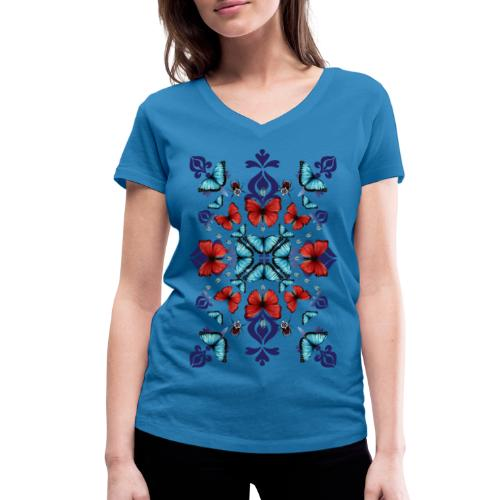 Butterfly Mix - T-shirt ecologica da donna con scollo a V di Stanley & Stella