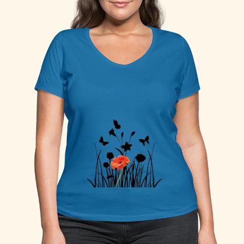 Flower Pover - Frauen Bio-T-Shirt mit V-Ausschnitt von Stanley & Stella