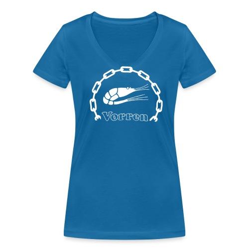 Vorren Logo CLASSIC [White] - Ekologisk T-shirt med V-ringning dam från Stanley & Stella
