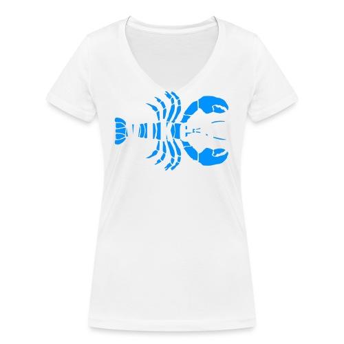 Vorren Logo HUMMERSÄSONG (Blå/Vit) - Ekologisk T-shirt med V-ringning dam från Stanley & Stella