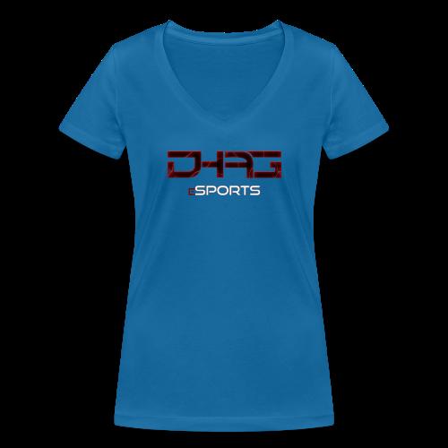 Shirt V- Ausschnitt Frauen DHAG Logo - Frauen Bio-T-Shirt mit V-Ausschnitt von Stanley & Stella