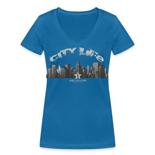 citylife png - Vrouwen bio T-shirt met V-hals van Stanley & Stella