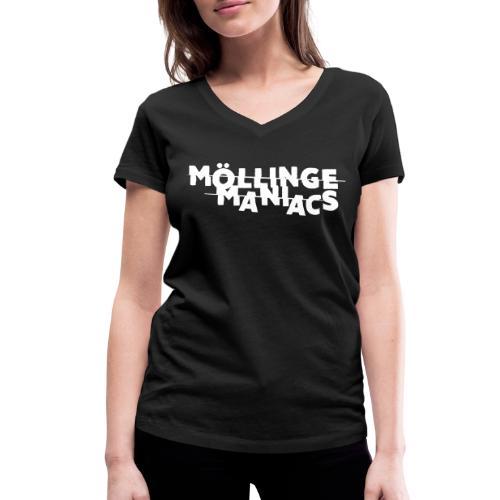 Möllinge Maniacs Vit logga - Ekologisk T-shirt med V-ringning dam från Stanley & Stella