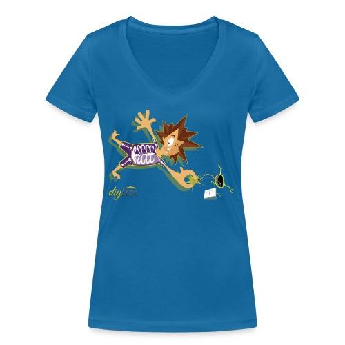 Electric Shock - Frauen Bio-T-Shirt mit V-Ausschnitt von Stanley & Stella