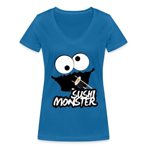 Sushimonster - Vrouwen bio T-shirt met V-hals van Stanley & Stella