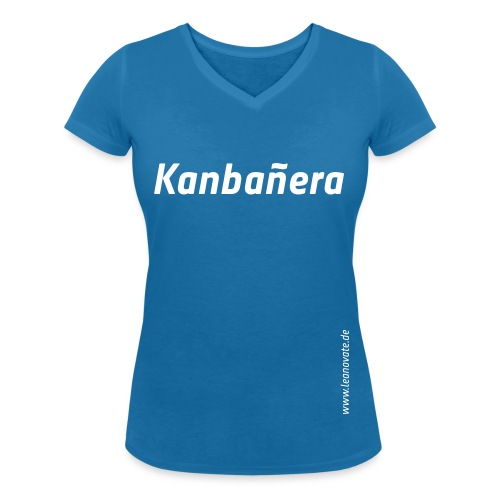 Kanbanera - Frauen Bio-T-Shirt mit V-Ausschnitt von Stanley & Stella