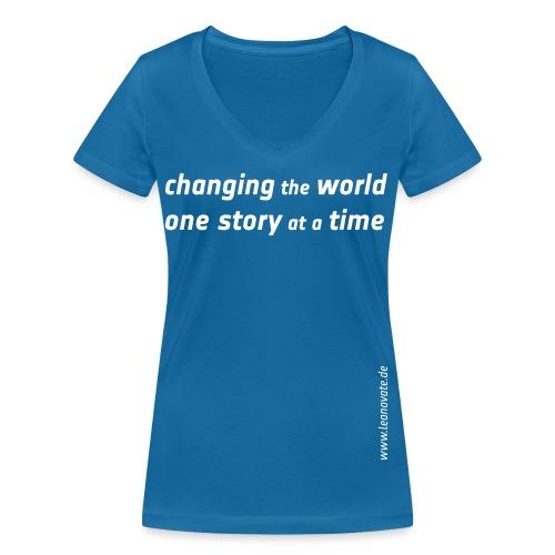 changing the world - Frauen Bio-T-Shirt mit V-Ausschnitt von Stanley & Stella