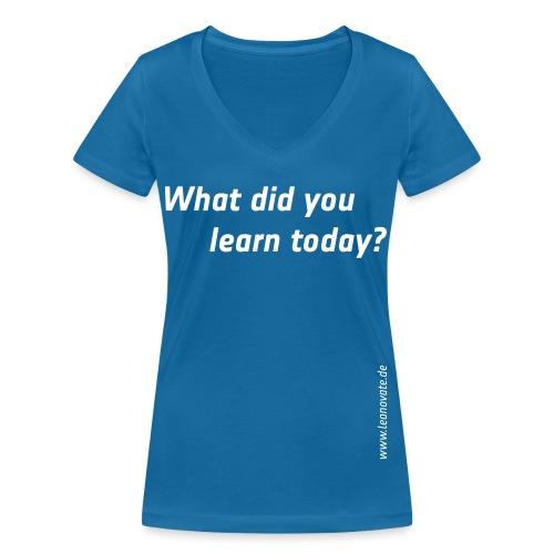 What did you - Frauen Bio-T-Shirt mit V-Ausschnitt von Stanley & Stella