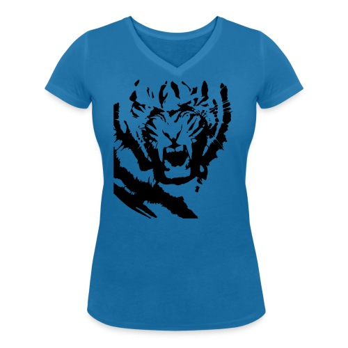 tiger face 2 - Women's Organic V-Neck T-Shirt by Stanley & Stella