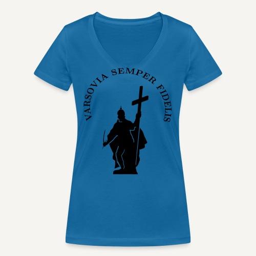 varsoviasf - Ekologiczna koszulka damska z dekoltem w serek Stanley & Stella