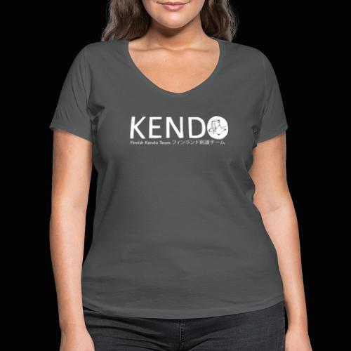 Finnish Kendo Team Text - Stanley & Stellan naisten v-aukkoinen luomu-T-paita