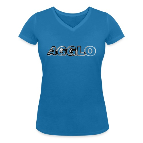 agglo png - Frauen Bio-T-Shirt mit V-Ausschnitt von Stanley & Stella