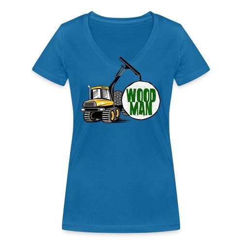 Woodman kuormatraktori, t paidat, hupparit, lahjat - Stanley & Stellan naisten v-aukkoinen luomu-T-paita