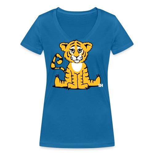 Tiger cub - Women's Organic V-Neck T-Shirt by Stanley & Stella