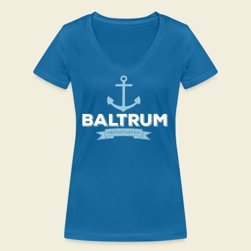 Heimathafen Baltrum - Frauen Bio-T-Shirt mit V-Ausschnitt von Stanley & Stella