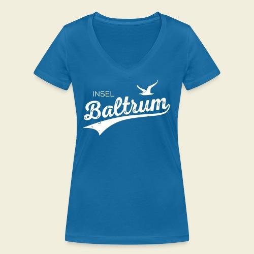 Baltrum-Logo Möwe - Frauen Bio-T-Shirt mit V-Ausschnitt von Stanley & Stella