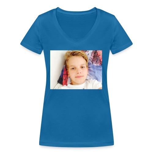 first design - Økologisk Stanley & Stella T-shirt med V-udskæring til damer
