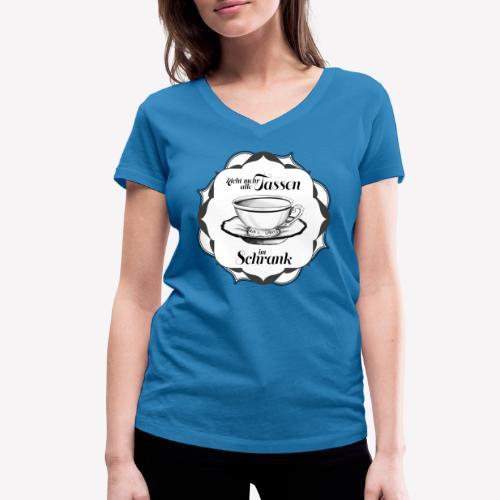 Tassen im Schrank - Frauen Bio-T-Shirt mit V-Ausschnitt von Stanley & Stella